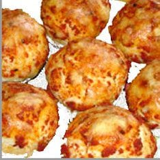 Muffin als Mini Pizza
