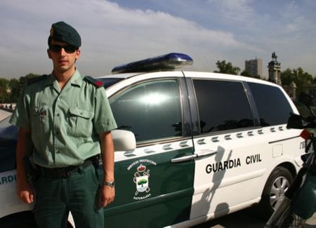 Polizist der Guardia Civil Spanien
